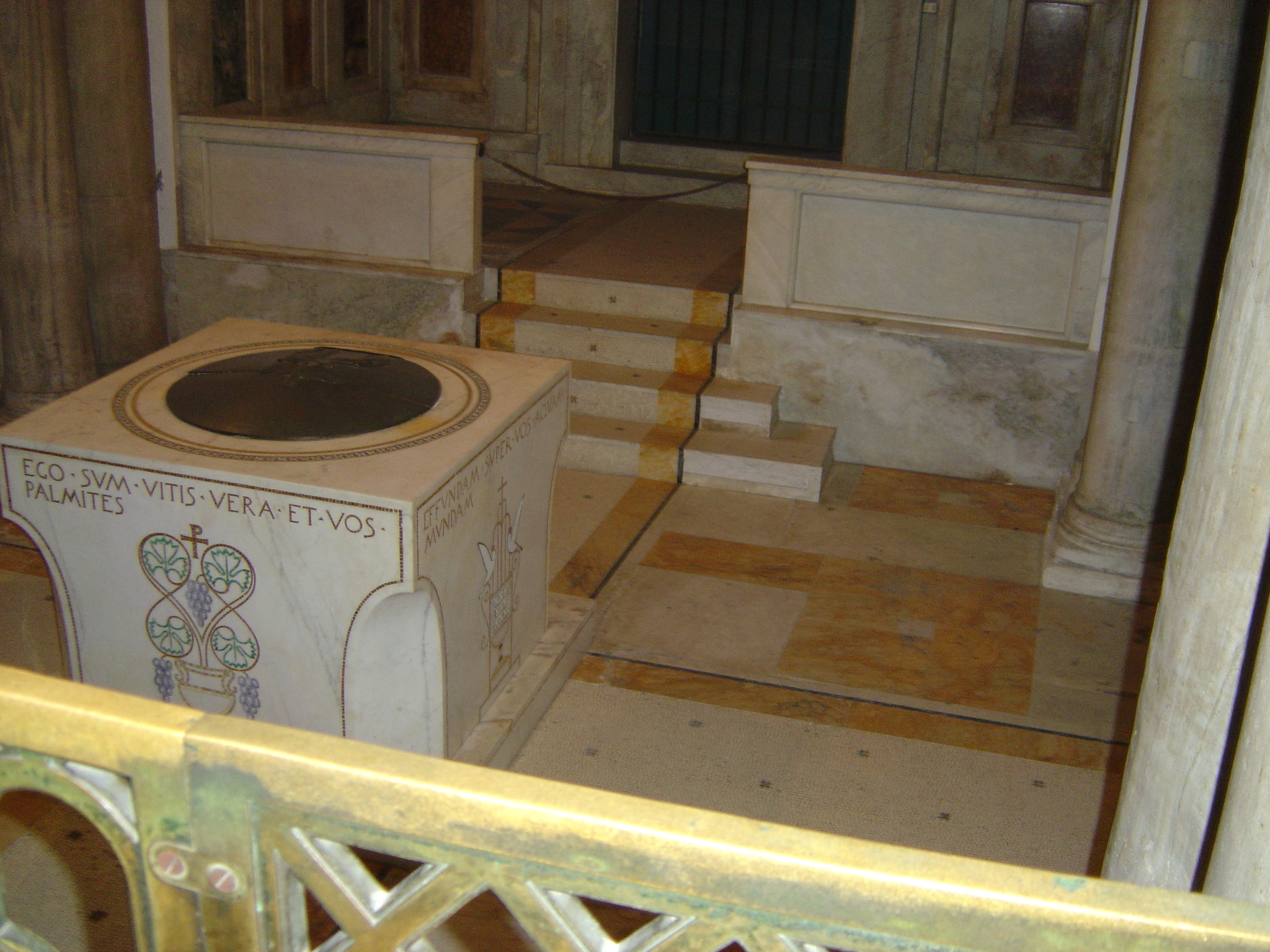 An ancient baptistry in the Basilica of St. Paul's-Outside-the-Walls.