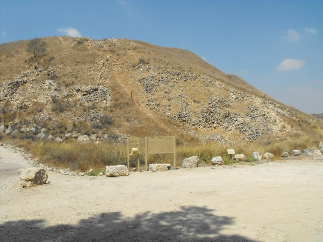 The ramp constructed by the Assyrians during their siege of Lachish. They succeeded in storming the wall and took the city. (Photo by Luke Chandler)